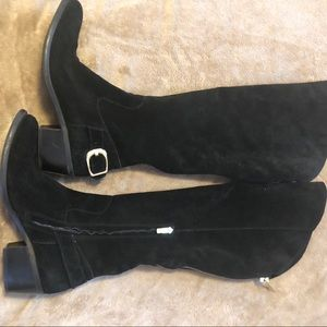 Vince Camuto tall suede leather boots size 10